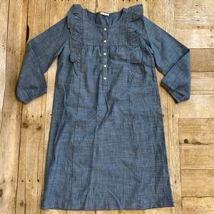 Crewcuts Girls Cotton Chambray Smock Sz 12